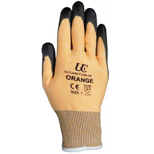 Kutlass PU300 PU Orange Safety Glove Size 9