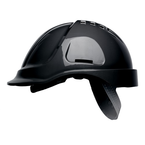 HP Series Vented Safety Helmet Black