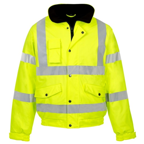 Hi Visibility Yellow Bomber Safety Jacket