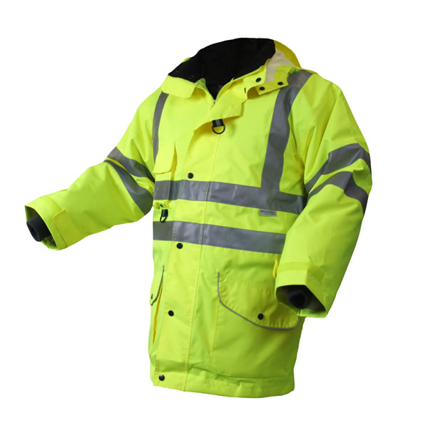 Hi Visibility Yellow 7 in 1 Safety Jacket