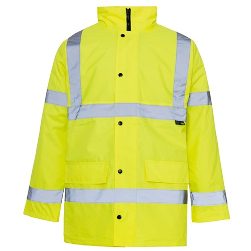 Hi Visibility Yellow Safety Traffic Jacket