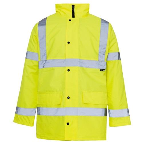Hi Visibility Yellow Safety Traffic Jacket